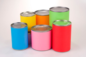 Colored Tin Cans